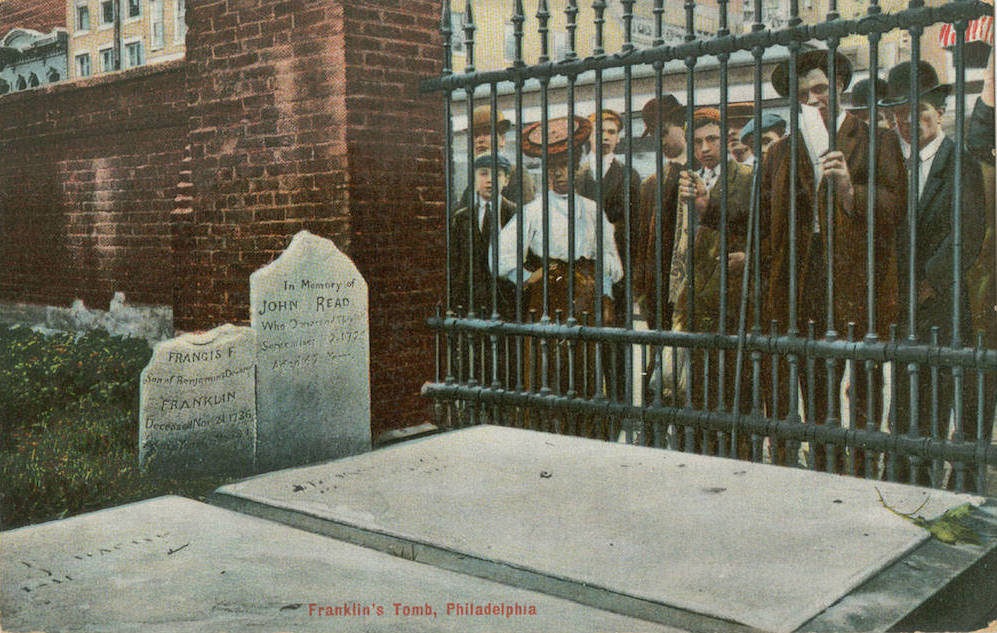 How Franklin S Grave Became A Monument And Philadelphians