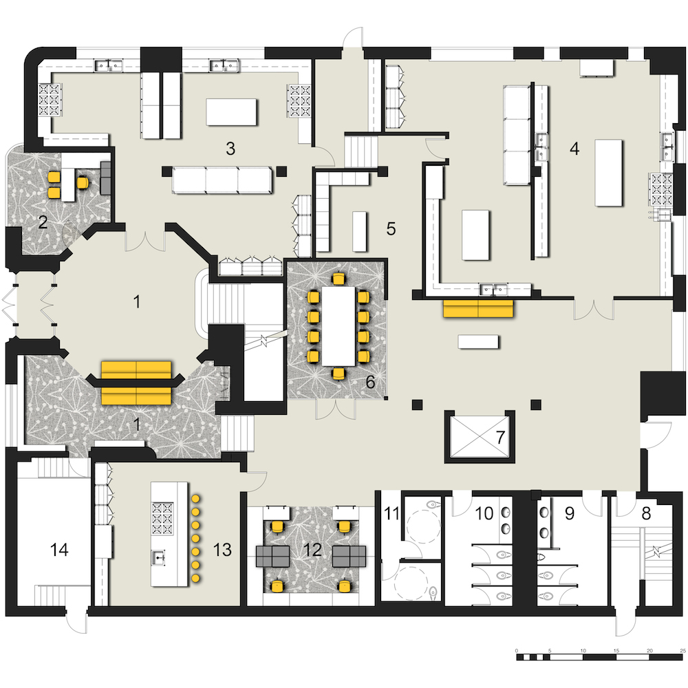 Teaching Kitchen Floor Plan marked potential: film exchange building | hidden city philadelphia