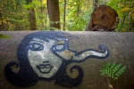 Street art in the woods