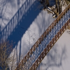 The 1980 bike path bridge over Wissahickon Creek