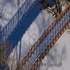 The 1980 bike path bridge over Wissahickon Creek