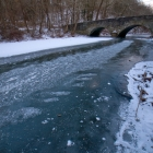 Wissahickon Creek and Bells Mill Road bridge