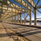 Morning patterns on Falls Bridge