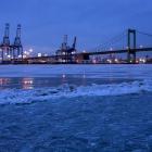 Port, skyline, Walt, and Delaware River