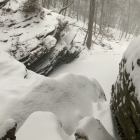 Cresheim Creek, Devil's Pool, bomb cyclone