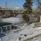 Frozen Schuylkill from Laurel Hill Cemetery
