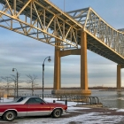 The baddest badass in Chester, PA, El Camino and Commodore Barry Bridge