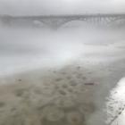 Foggy Strawberry Mansion Bridge, Schuylkill River