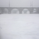 Schuylkill River, frozen and snow covered
