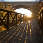 Wissahickon Bike Trail Bridge and Wissahickon Memorial (Henry Avenue) Bridge