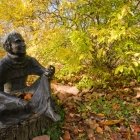 Madeleine Butcher's sculpture of Saint Francis— patron saint of ecologists—was installed along Wissahickon Creek in 1985
