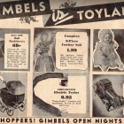 Gimbels' Toyland ad from the 1930's
