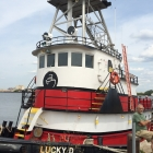 The Lucky D, docked at Pier 68