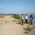 Landscape architects Bryan Hanes, Christina Sohn, Kelsey Toomey