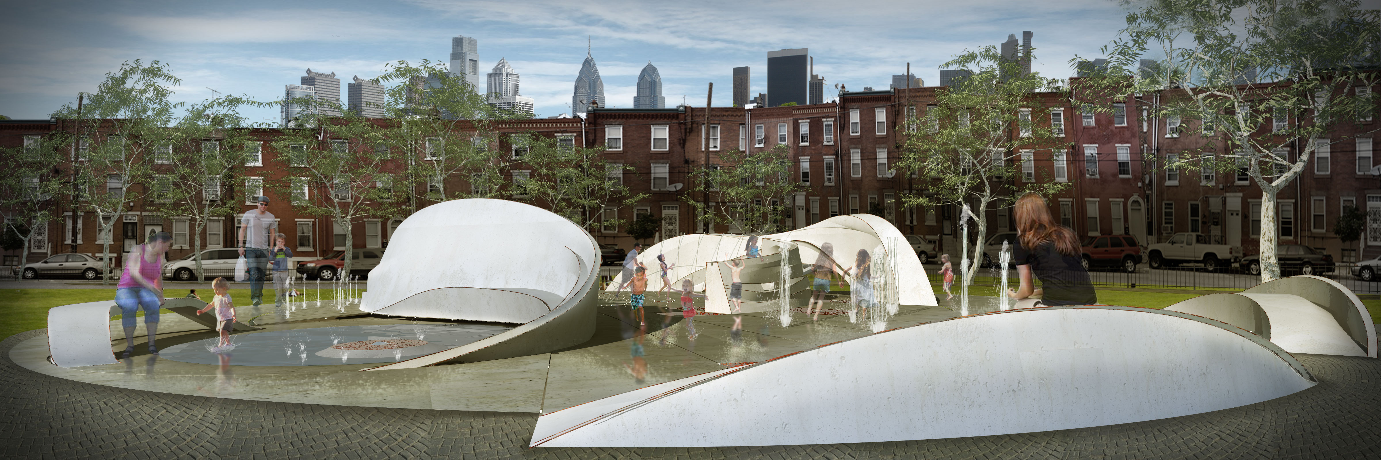 """Fluidscape"" Punctuates Seger Park Renovation"