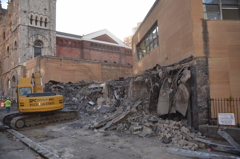 Demolition Begins At Sidney Hillman Medical Center