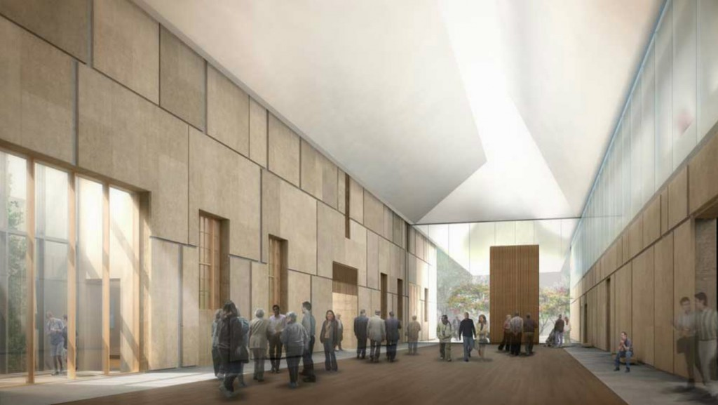 architect's rendering - barnes collection