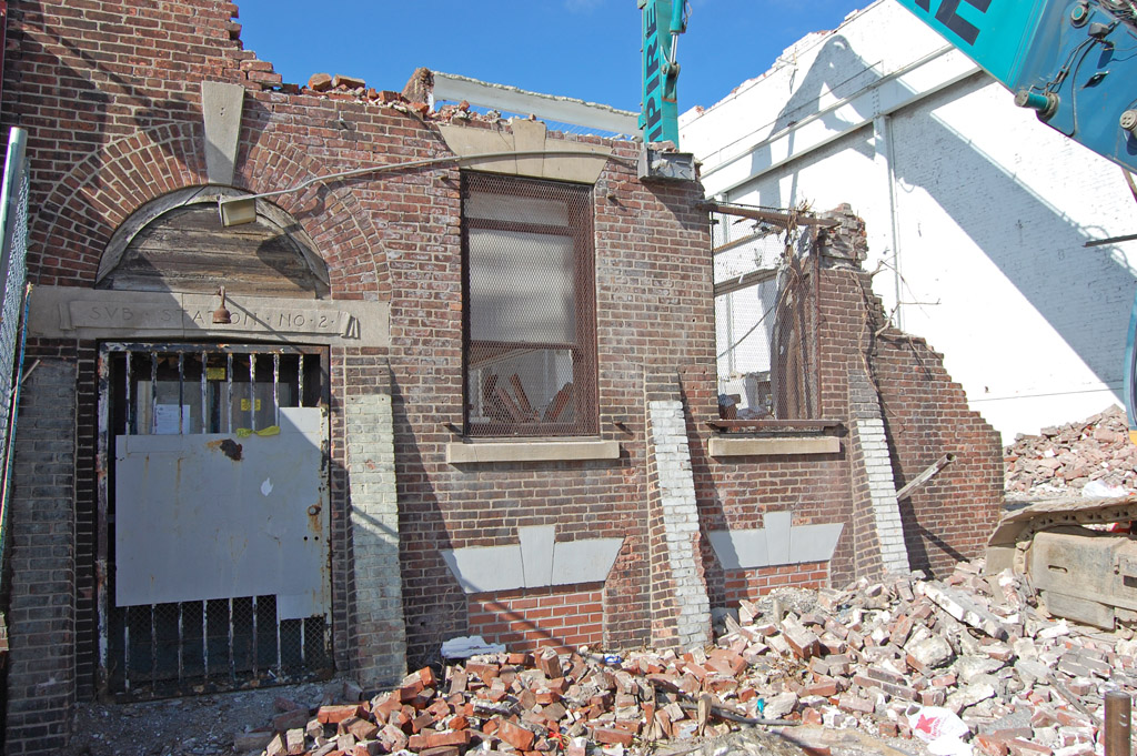 Historic Trolley Substation In Germantown Succumbs