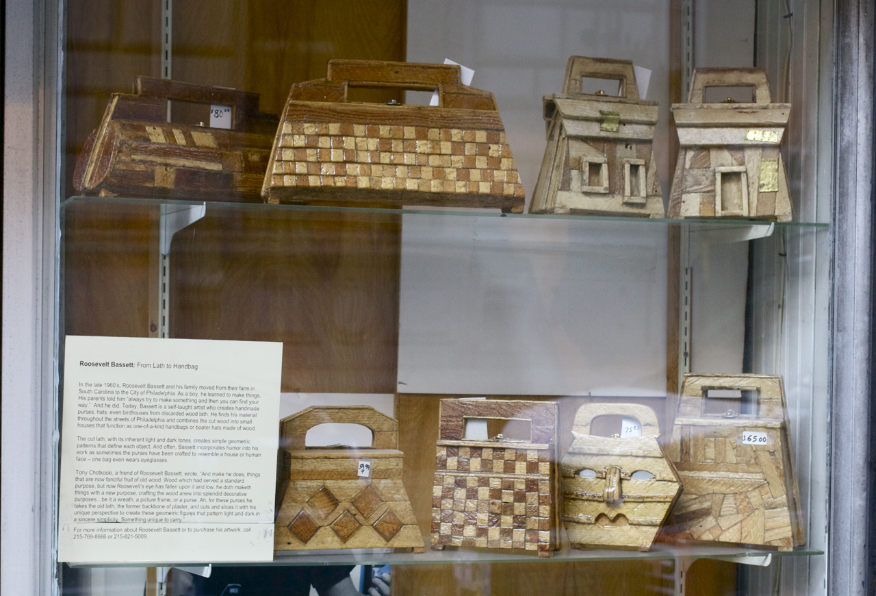 Wooden Purses on Walnut