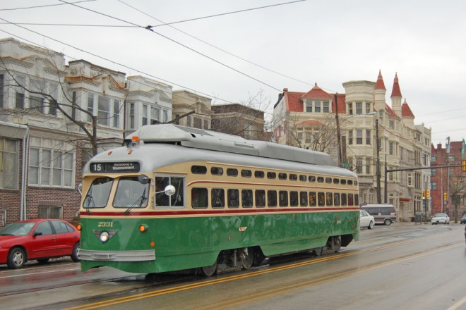 Rt 15 trolley - 41st & Parkside Avenue