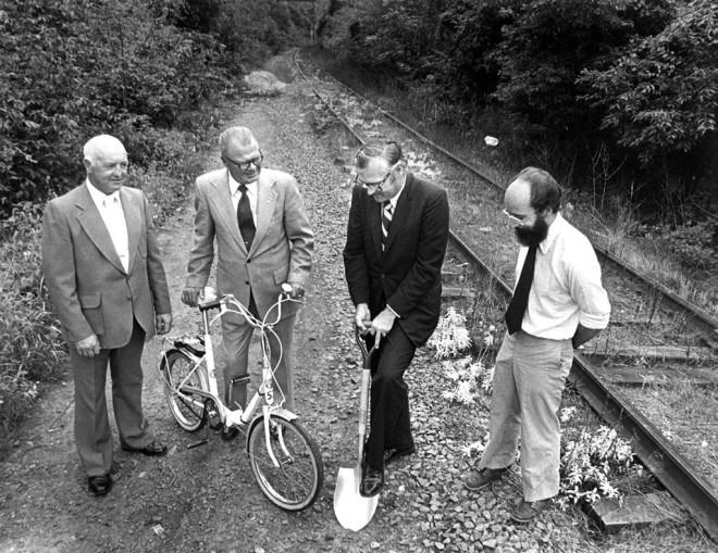 1979 Schuylkill River Trail Groundbreaking