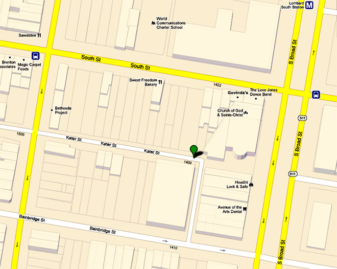 google map southwest block Broad & South