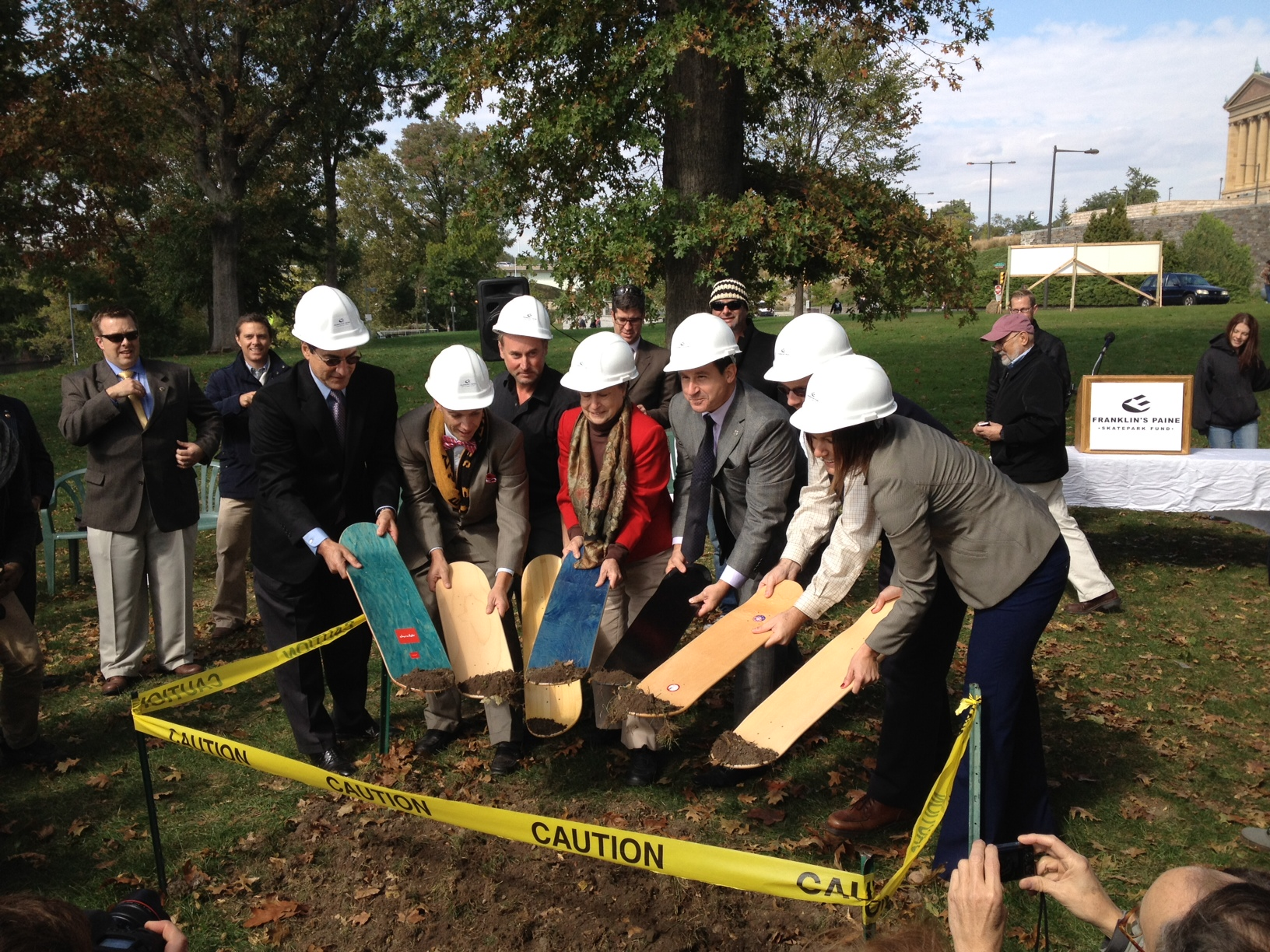 Paine's Skatepark Breaks Ground