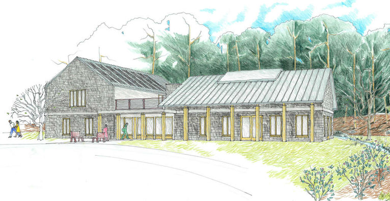 Chestnut Hill Friends Meetinghouse rendering