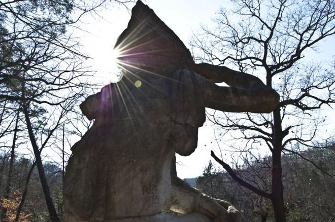 """Tedyuscung sculpture,"" John Massey Rhind   Photo: Ethan Wallace"