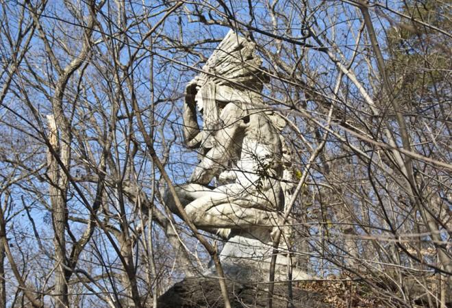 """Tedyuscung statue, John Massey Rhind | Photo: Ethan Wallace"