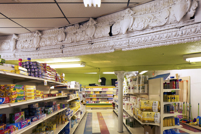Inside the Fine Fare supermarket | Photo: Peter Woodall