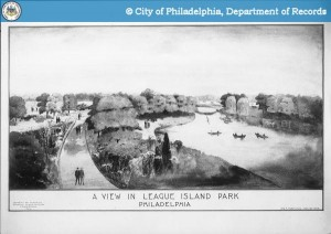 Drawing of League Island Park, 1914