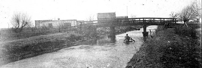Stonehouse Lane across the Swanson Canal, circa 1895