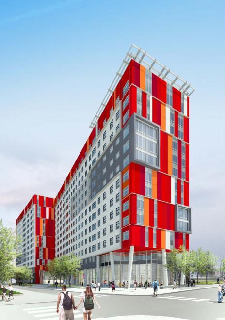 Wanamaker student residence | Image: WRT