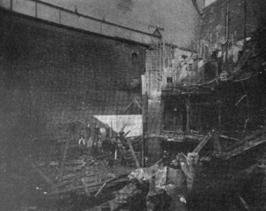 Aftermath of the 1903 fire | Souce: Insurance Engineering, Volume 7
