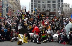 The Rabble Rousers after their winning performance in the 2013 Mummers Parade