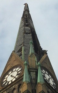 St. Bonaventure's damaged steeple | Photo: Michael Greenle