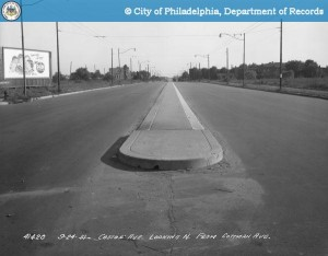 Castor Ave, looking N from Cottman, 1951