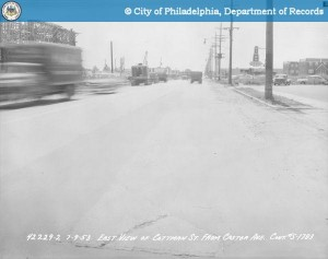 Cottman Ave looking E from Castor, 1953