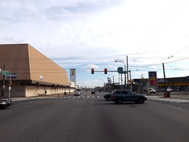 Cottman Ave, looking E from Castor, 2013