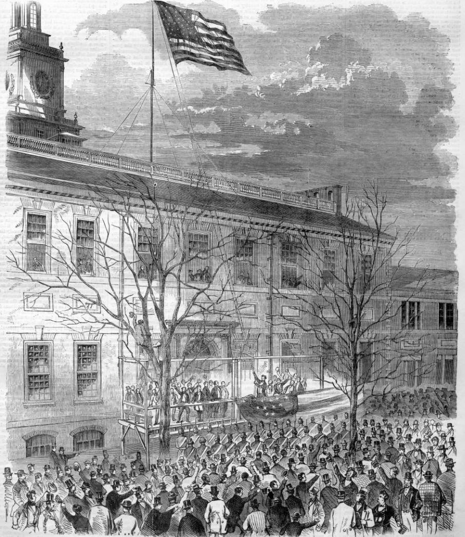 When President-Elect Lincoln Came To Independence Hall