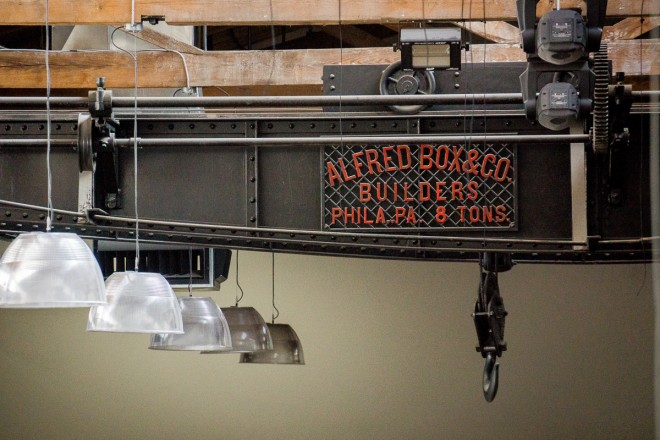 Original details: overhead crane and pulley system | Photo: Theresa Stigale