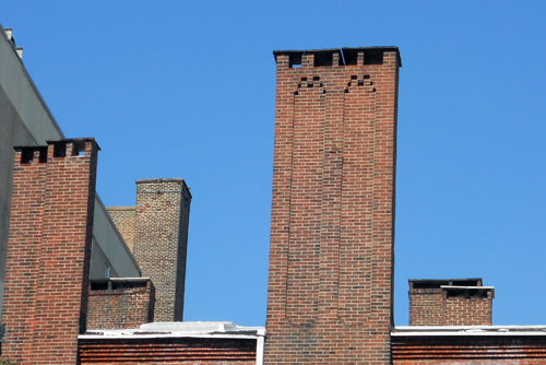 "Photo: Ken Finkel | Upon seeing these chimneys in 1973, Louis Kahn declared that ""that is what a city should look like."""