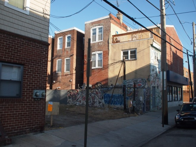 602 S. 8th, where two curb cuts have been requested | Photo: Nathaniel Popkin