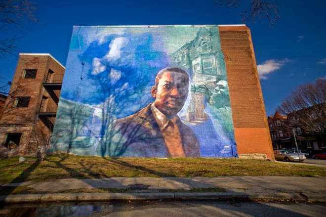 The legacy of John Coltrane looms large in Strawberry Mansion; this mural is five blocks north of his former home on 33rd Street | Photo: Bradley Maule