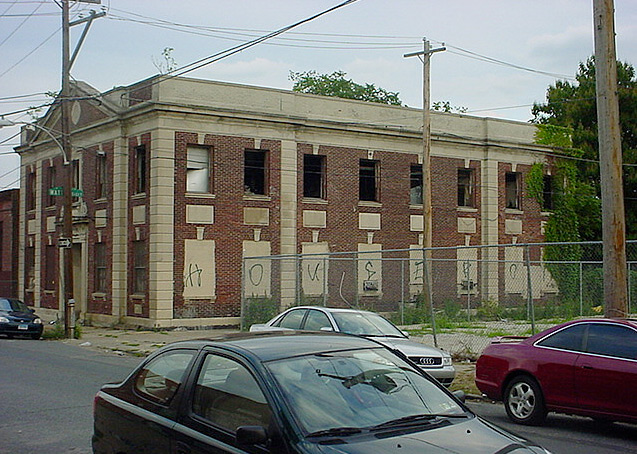 Originally Eagleville Dispensary and later hospital offices, this building was the last to be demolished.   Photo: Flickr user strayolive