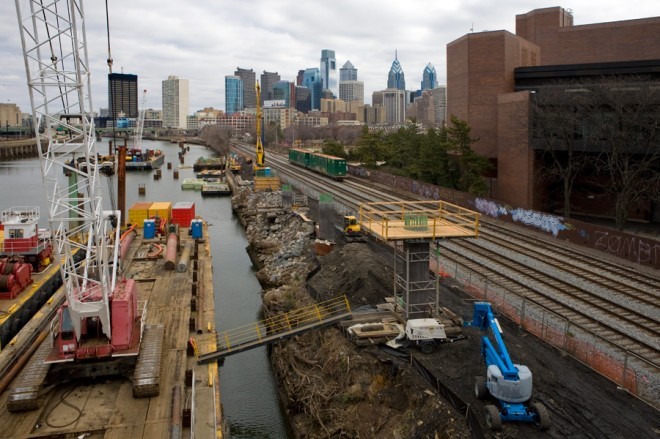 Boardwalk coming: Schuylkill River Trail's southward expansion under construction at South Street Bridge