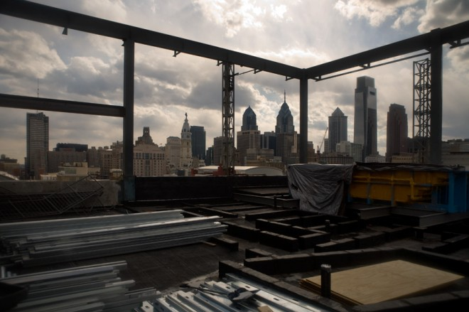 Waitin' on a sunny day: roof terrace under construction | Photo: Bradley Maule