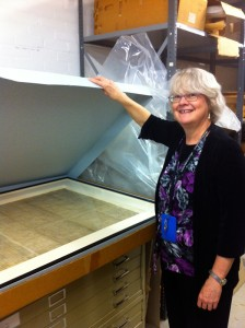 City Archivist Jill Rawnsley  with the City Charter in its current context | Photo: Sam Robinson