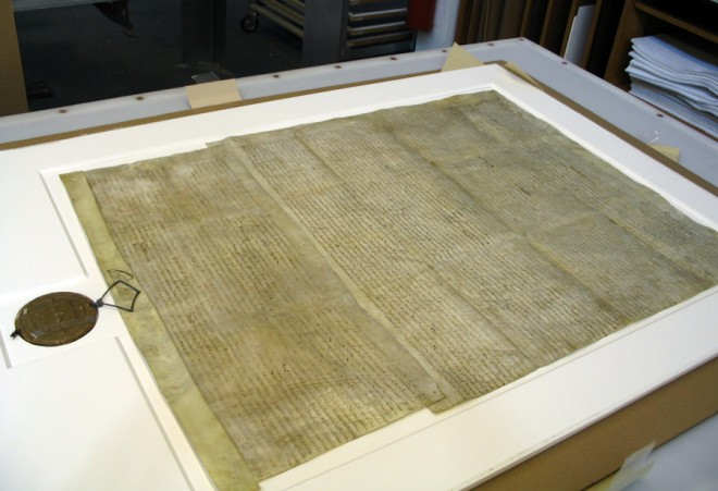 Sealed with a dream: William Penn's signature and seal on the original City Charter | Image courtesy of the Conservation Center for Art and Historic Artifacts